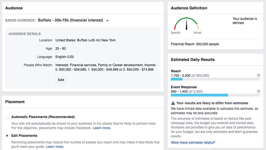 facebook ad targeting to increase your event's success