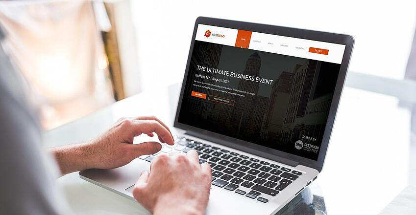 landing page design to increase your event's success